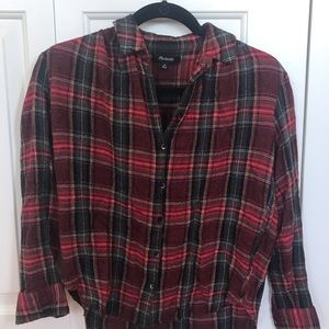 Madewell Semi-Cropped Holiday Flannel